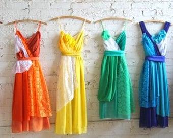 Individual Final Payments for Julia Slabosheski's Custom Rainbow Bridesmaids Dresses