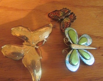 butterfly brooch set of 3