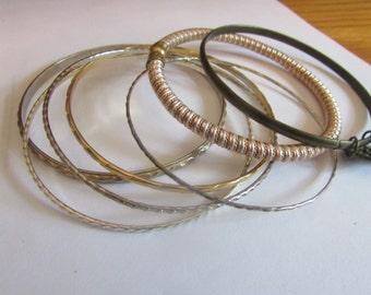 wire wrap bangle plus