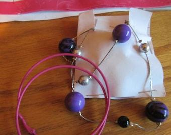 purple ball necklace plus