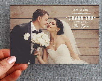 "50+ Wedding Thank you card, rustic, country, vine ""Abby Style"""