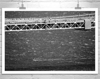 Windsurf, Windsurfing Photography, Golden Gate, San Francisco, Black and White, California Art, Windsurfer, Bridges, Sea, Ocean
