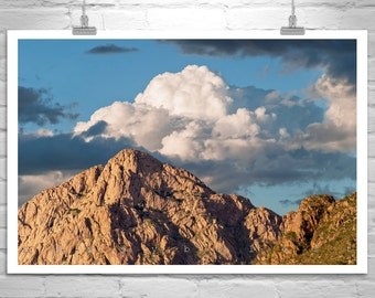 Tucson Arizona, Landscape Photograph, Desert Photography, Black and White, Sky Art, Cloud Art, Sky and Clouds, Western Picture