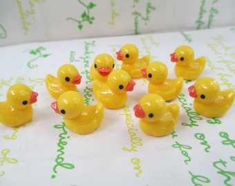 New Item Resin miniature yellow duck for Glass Cover Vial Filler 2pcs 15mm x 17mm