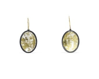Gold Memento Earrings, Small