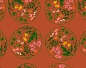 Tiger Lily, Floral Wreath  by Heather Ross for Windham Fabrics 40928-6 100% Quilters Cotton Available in Yards, Half Yards and Fat Quarters