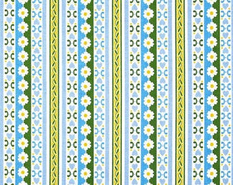 Jennifer Paganelli Circa Bradlee in Blue PWJP074 100% Quilters Cotton Available in Yard, Half Yard, Fat Quarter