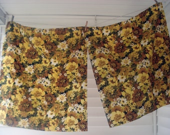 Moody floral curtains - two panels