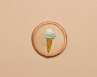 Iron-on Ice Cream Patch