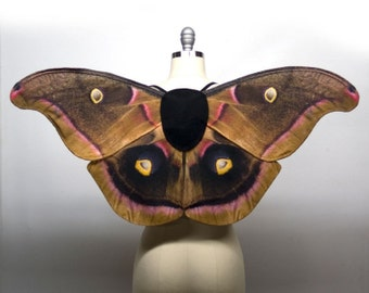 Made to Order - Polyphemus Moth Fairy Costume Wings, Moth Costume, Halloween