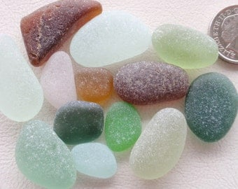 English sea glass colour collection teal,green,seafoam,pale green ,amber