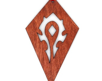 Wooden WoW Horde Ornament