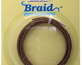 BRAID Artistic Wire 12 Gauge Lead/Nickel Safe-Antique Brass 5 Feet