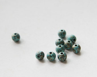 100 pieces Plastic Round Beads - 8mm (N-203)