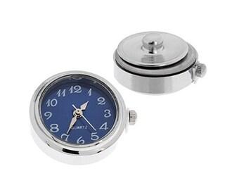One Piece Interchangable Watch Face Snaps - Cobalt Blue 18mm