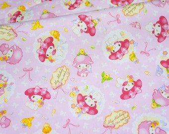 Sanrio fabric my melody 100 cm by 106 cm or 39 by 42 inches