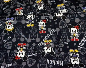 Disney Cartoon Mickey Mouse  Print Japanese fabric 50 x 106  cm or 19.7 x 42 inches