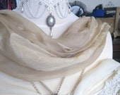 Original Victorian silk wrap, hand decorated and still wearable