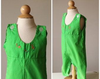 "ON SALE 1960s ""1,2,3"" Overalls~Size 6 Months"