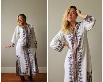 1960s Moroccan Tunic Dress >>> Small to Medium