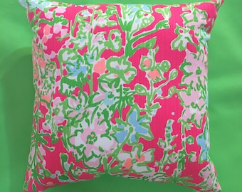 New Pillow made with Lilly Pulitzer Southern Charm