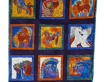 Wall Hanging Quilt in Laurel Burch Bright Horses