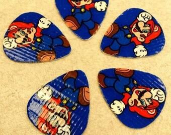 Upcycled Super Mario Bros Guitar Picks