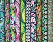 SALE - Amy Butler GLOW VIOLET cotton fabric bundle - 1 yard set of 10