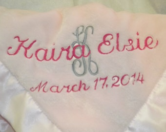 Baby Fleece Blanket Personalized, Super Soft with silky edge, Baby's favorite Blankie, Keepsake Baby Gift