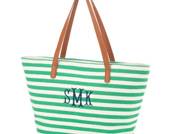 Monogrammed Summer Purse, Stripe Personalized Purse