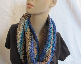 SALE - Unisex Chunky Multicolor Infinity Scarf/Cowl (5052)
