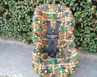 John Deere  toddler car seat cover
