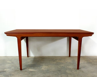 Summer Sale Danish Modern Johannes Andersen Dining Extension Table Teak