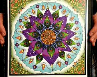 March Madness Mandala String Cheese Incident Tour Poster 11x11