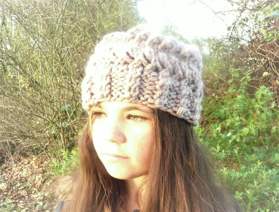 Knit Slouchy Hat Pattern Bulky Yarn : Quick & Easy Knitting Pattern Hat Super Chunky Bulky Slouch