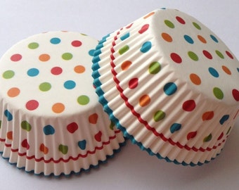 50 pcs Polka Dot Cupcake Liner Baking Cups