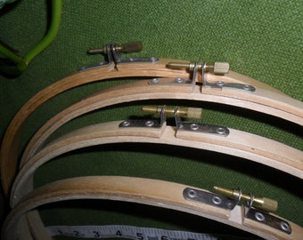 """Four (4) 12"""" Wood Embroidery Hoops"""
