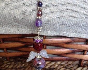 ANNA  Guardian Angel Rearview Mirror Charm,  Purse Charm, Angel Ornament, faith Charm