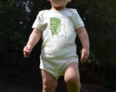 SALE Made in Phinneywood-- Screenprinted American Apparel Organic Baby One-Piece