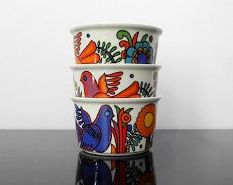 3 Deep Dish, Cups / Villeroy & Boch / Acapulco / Vintage