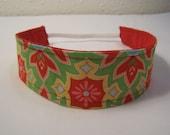 Green Delighted Mosaic Riley Blake Fabric Headband