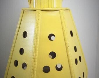 Vintage wooden lantern yellow lantern