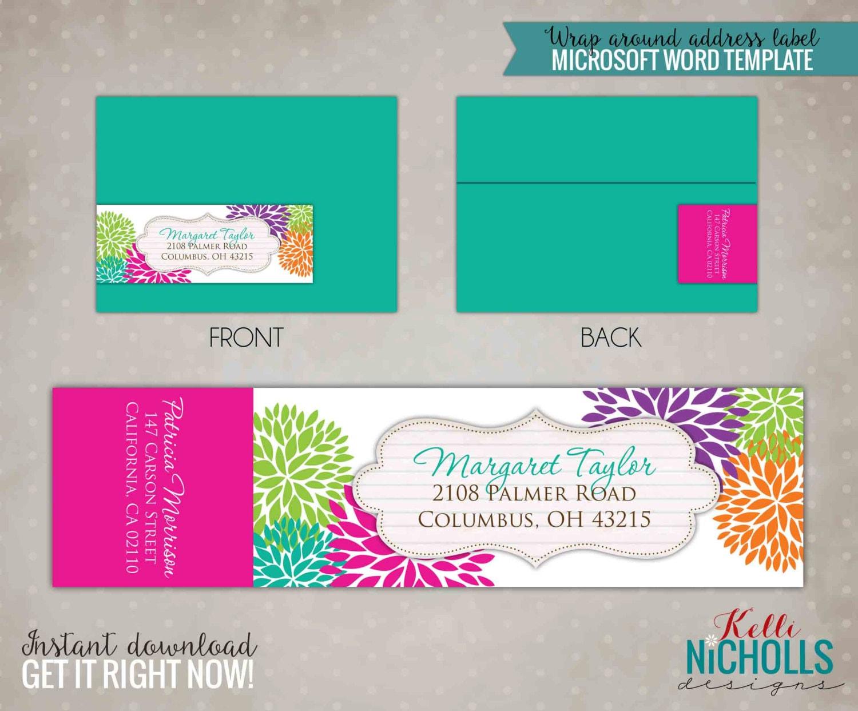 floral address label wedding address labels Modern Floral Wrap Around Return Address Labels Custom Spring Wedding Envelope Sticker S