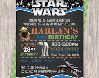 Star Wars Invitation, Star Wars Birthday Invitation, Star Wars Invite, Star Wars Birthday Invite 5x7 JPG PDF