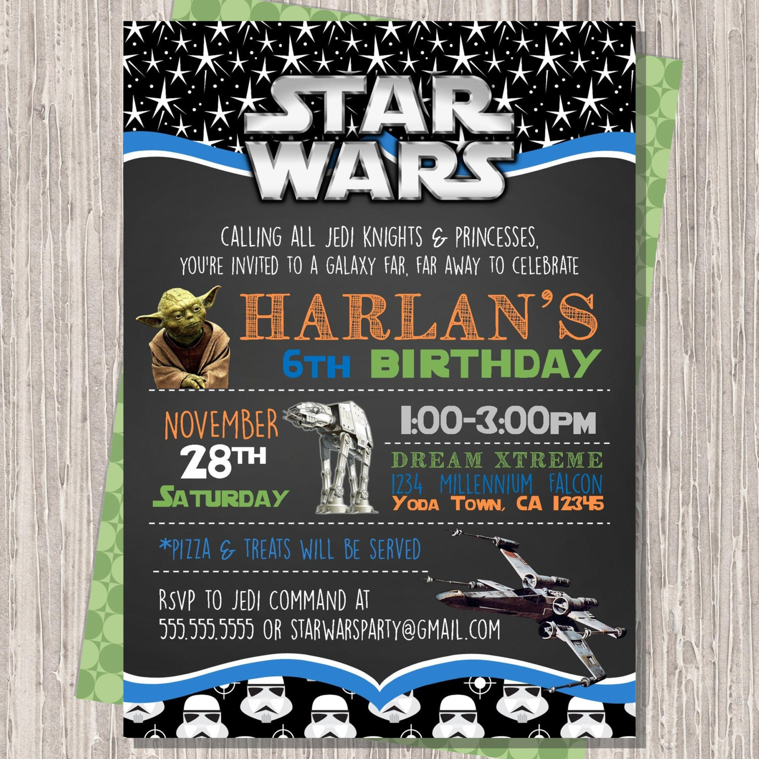 This is an image of Invaluable Printable Star Wars Invitation