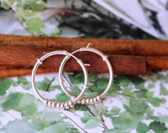 Sterling Silver Hoop Earrings (Large)