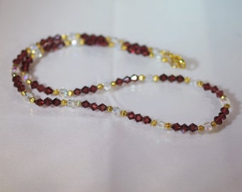 Czech Crystal Jewelry -  Crystal Necklace - Available in Several Colors