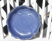 Blue Casserole Dish Vintage Bybee Pottery Baking Dish