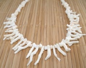 White Coral Necklace White Branch Coral Necklace 20 inch Necklace Sterling Silver Coral Necklace Long Necklace Statement Valentines Day