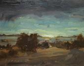 Sunrise Over the Kickemuit | Original Painting Oil Painting Landscape Painting | 6 x 8